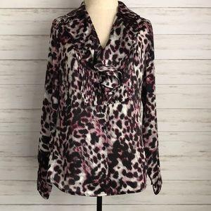 JONES NEW YORK animal print blouse